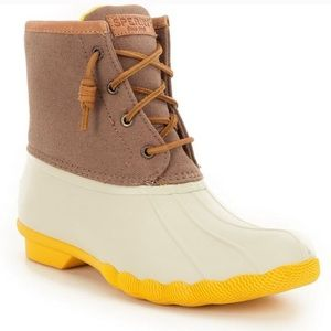 Sperry Saltwater Duck Boot Yellow / white / tan